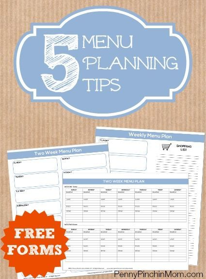 You may have good intentions and WANT to plan your weekly meals, but aren't sure where to start. We are here to help! Check out these 5 simple tips ANYONE can follow to plan a menu (and even get some FREE forms you can use to make your own)!! Menu planning is the easiest way to save money and stay on budget!