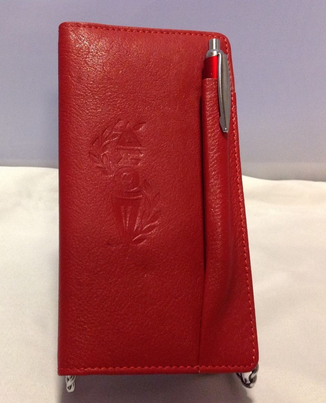 Leather Checkbook Cover | For the Love of Delta Sigma Theta