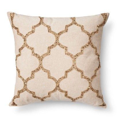 Trellis Beaded Toss Pillow Beaded Throw Pillows Toss Pillows