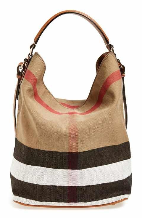 8b0dac2f6 Burberry Medium Ashby Check Print Bucket Bag   Womens Wallets   Bags ...