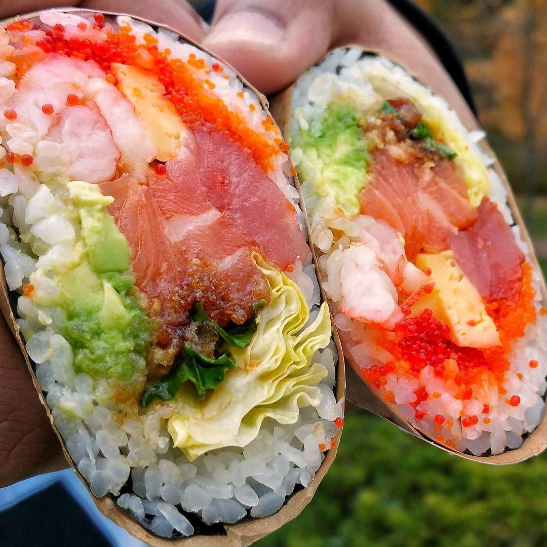 Sushi B You Ve Been So Good To Me Tbt A Throwback To The Time When Sushi Burritos Lured Me Into The Suburbs Of Grand Sushi Catering Food Catering Food