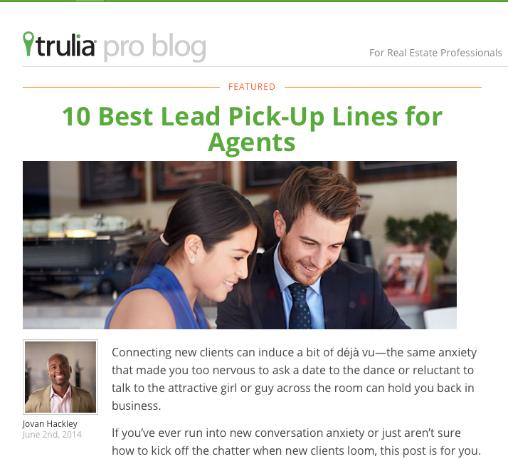 10 Best Lead Pick-up Lines for Agents - lines arent my