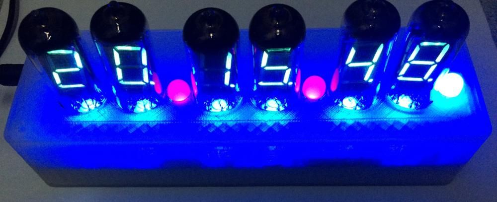 Diy Fluorescent Tube Clock Iv 11 Kit Vfd Tube Kit Glow Tube Fluorescent Tube Fluorescent Tube Clock Circuit Board Components