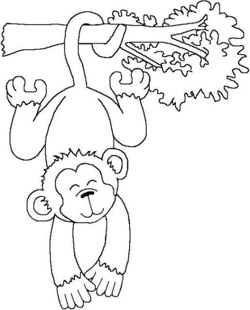 Malvorlage Affe Kostenlos Zum Ausdrucken Monkey Tree Funny Ausmalbilder Affe Malen Ausmalen