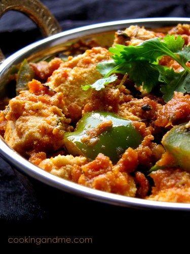 kadai paneer recipe paneer recipes recipes indian paneer recipes on hebbar s kitchen kadai paneer id=45057