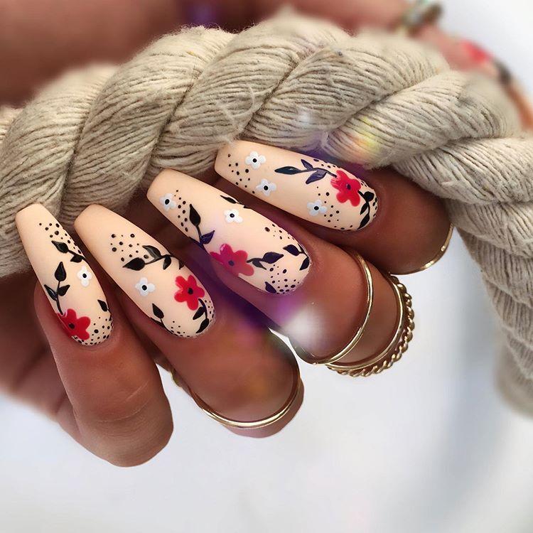 Trendy Nail Art Designs For Long Nails 2020 Summer Nails Nails