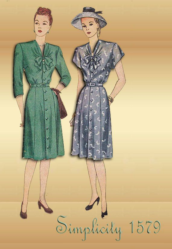 1940s Sewing Pattern Simplicity 1579 Tailored by FloradoraPresents Sooo cute! Plus I love the models' pouts...