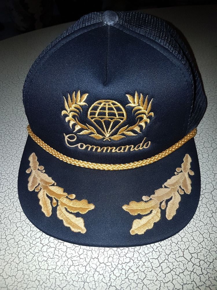 c6cd59849d Vintage Snapback Hat COMMANDO Life-Line Army Cap Made in USA ...