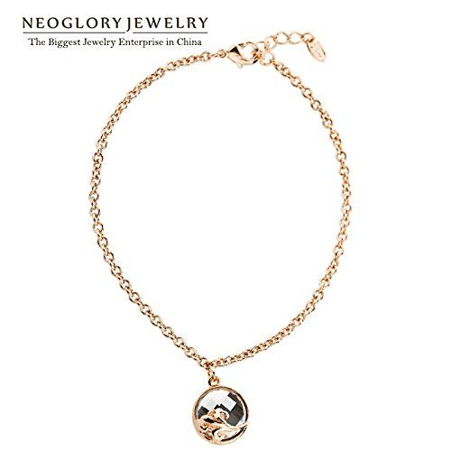 ChokuShop Neoglory Crystal Enamel Paint Alloy Rose Gold Plated