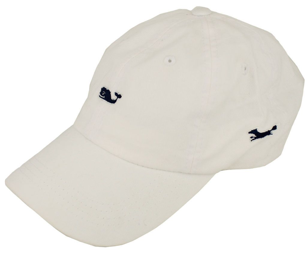 Whale Logo Baseball Hat in White by Vineyard Vines, Also Featuring Longshanks the Fox #$0-to-$50
