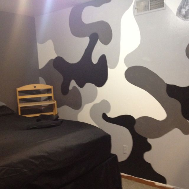 Camo Wall Sam Painted For Logan S Room Camo Rooms Room Themes