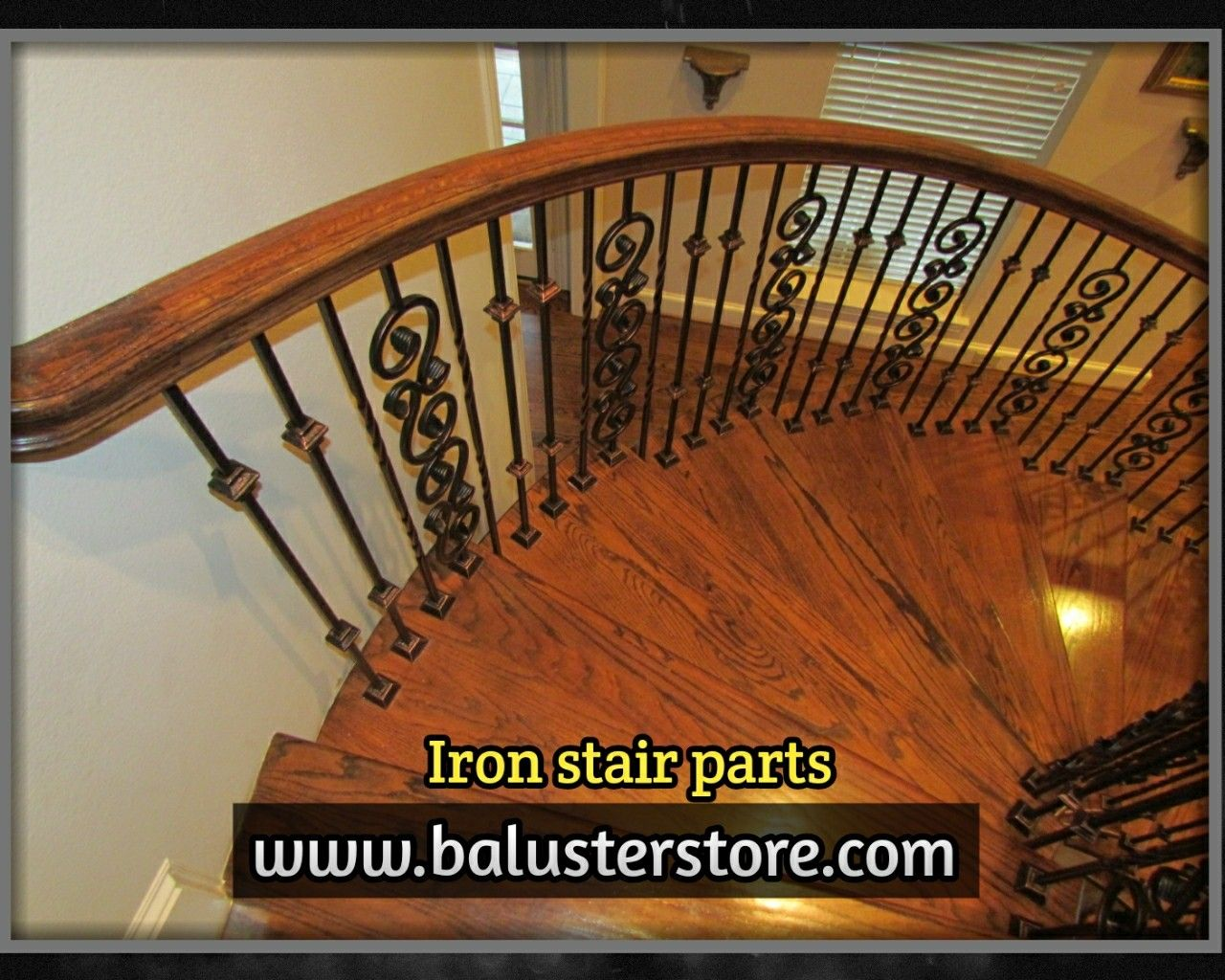 Www.balusterstore.com Shop.balusterstore.com Iron Balusters Iron Stair  Parts Iron Stair Railing Parts For Stairs Iron Spindles Stair Accessories  Staircase ...