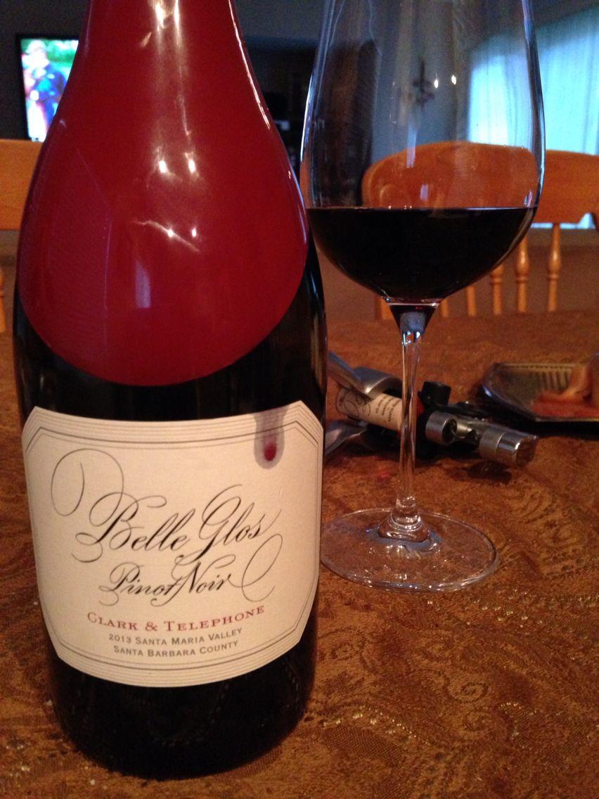 Belle Glos Pinot Noir Clark Telephone 2013 Santa Maria Valley Santa Barbara County Wine Lovers Cheap Wine Alcoholic Drinks