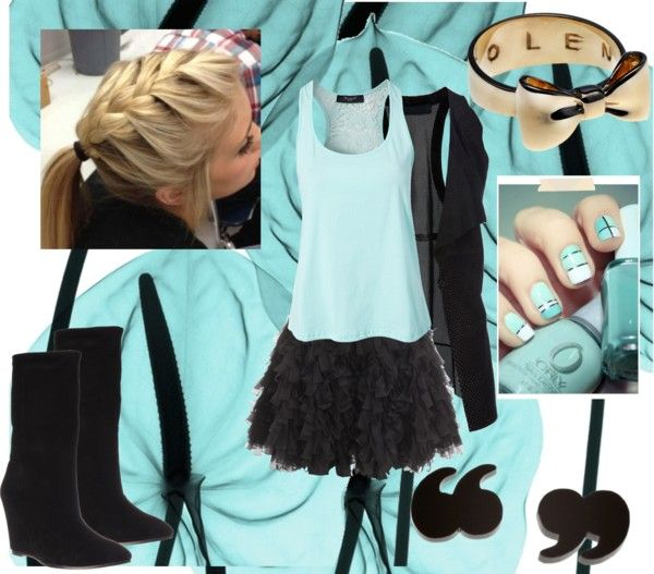 """""""black and blue ant yellow XD"""" by connie-14 ❤ liked on Polyvore"""