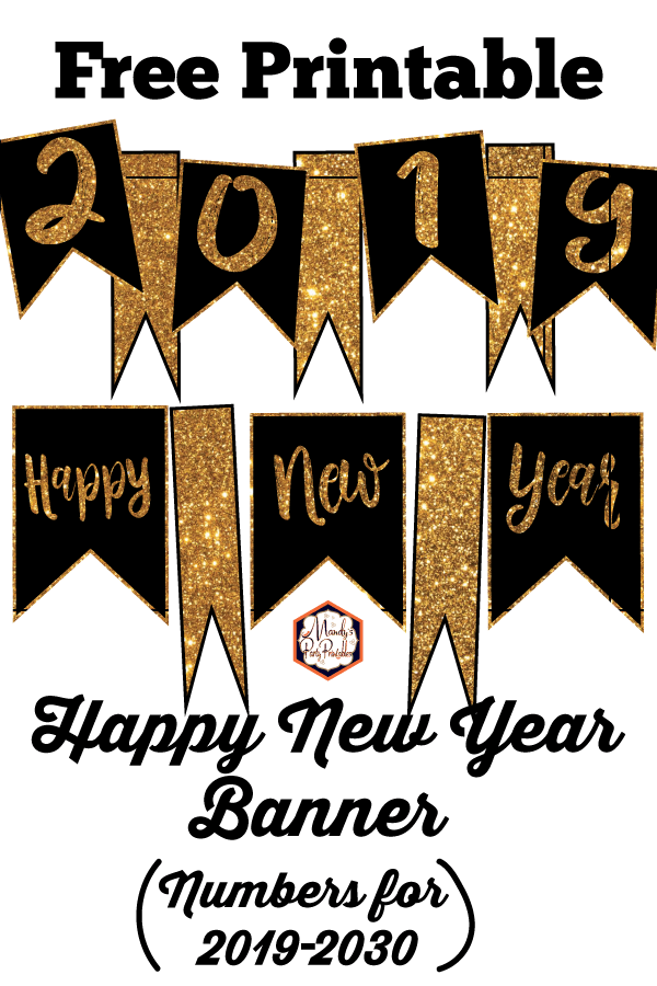 happy new year banner customizable