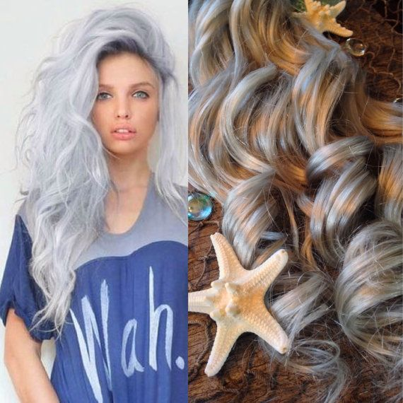 Hair Extensions Opal Hair Silver Hair Grey Hair Platinum Hair