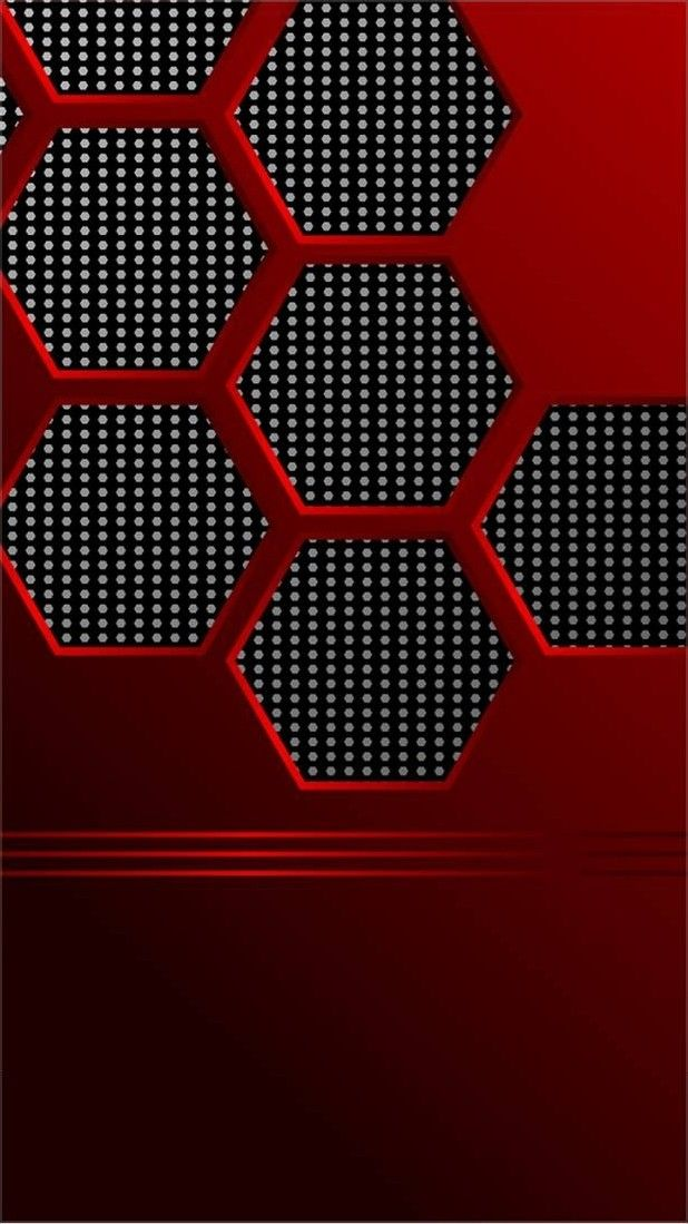 Iphone X Black And Red Hexagon Wallpaper Hexagon Wallpaper Hexagon Wallpaper