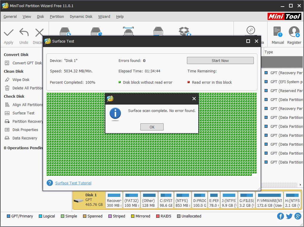 Pin On Disk Partition Management