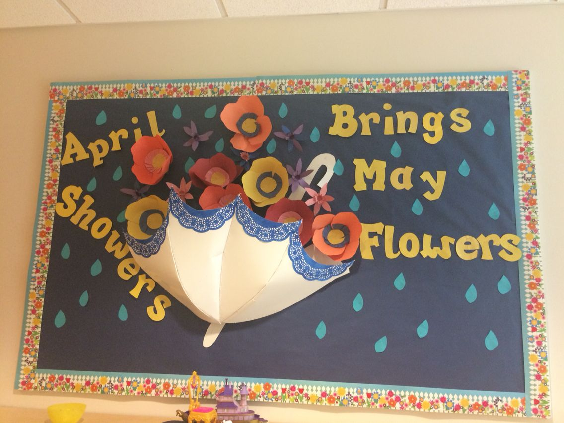 April Showers Bring May Flowers Spring Classroom