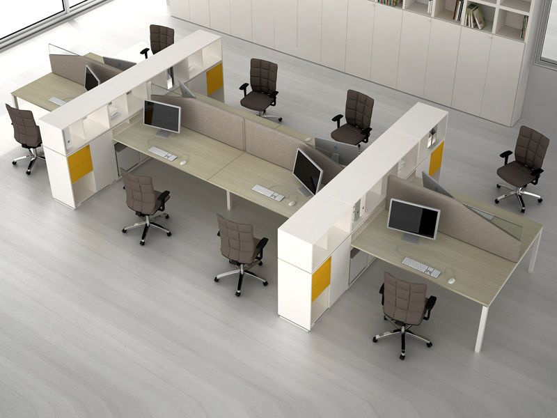 Modular Workstation For Open Plan Office Joint Estel Modern Office Design Corporate Office Design Open Space Office