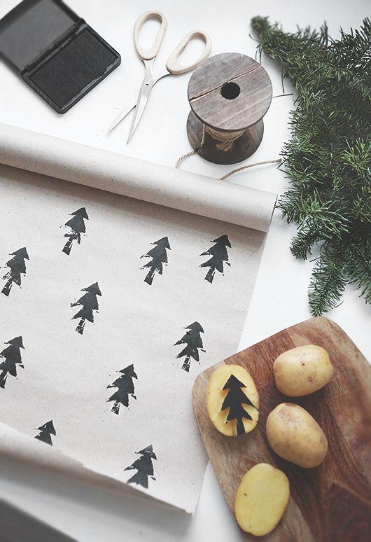 Una sencilla forma de #personalizar el #papel para los #regalos. #papelería