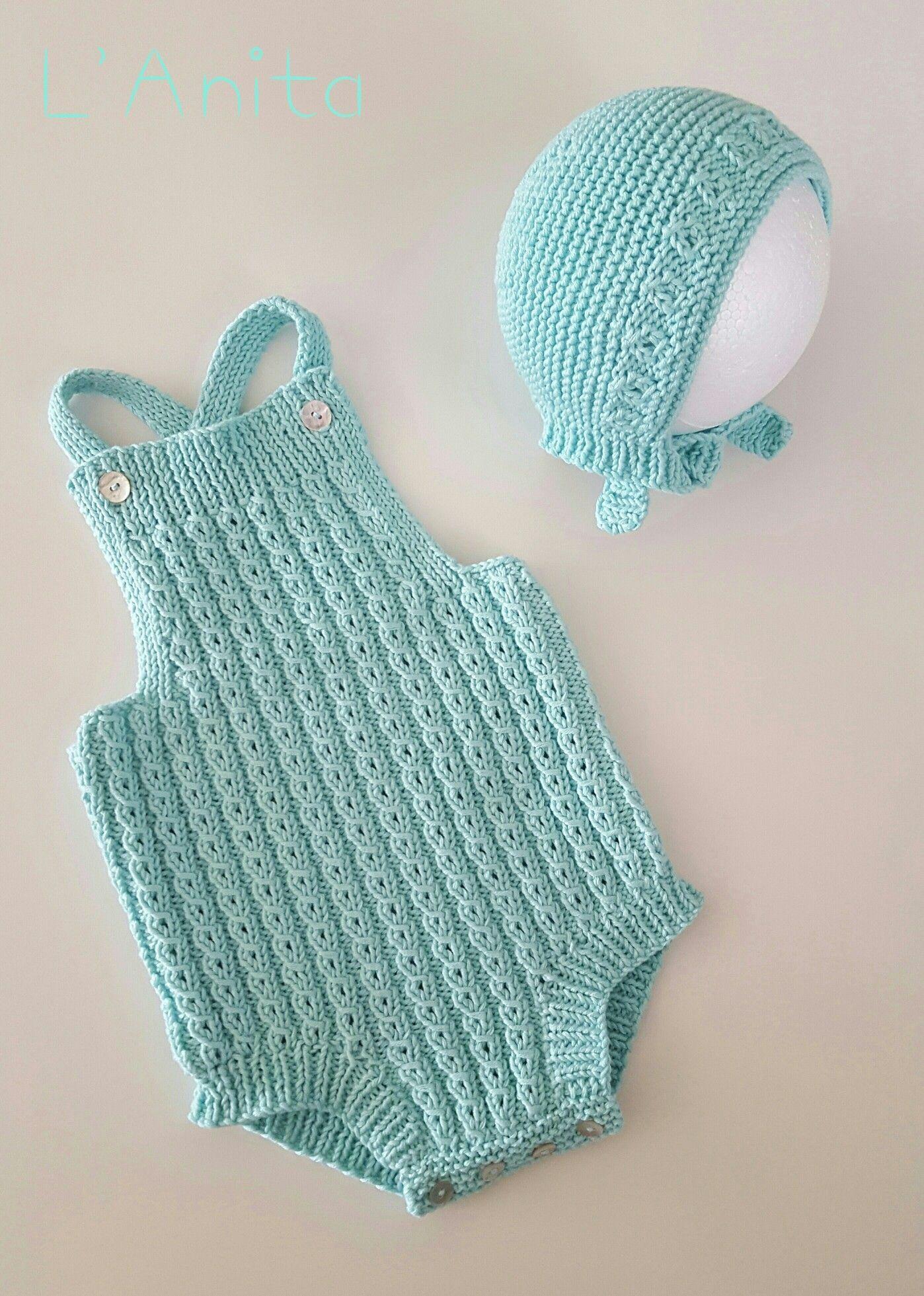 1584d3027 Conjunto ranita de ochitos y capota tejidos a mano con 100% algodón. L'Anita