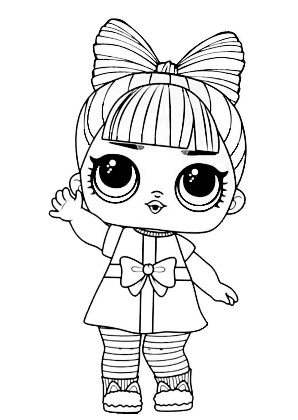 Lol Surprise Winter Disco Coloring Prezzie In 2020 Baby Coloring Pages Cartoon Coloring Pages Cute Coloring Pages