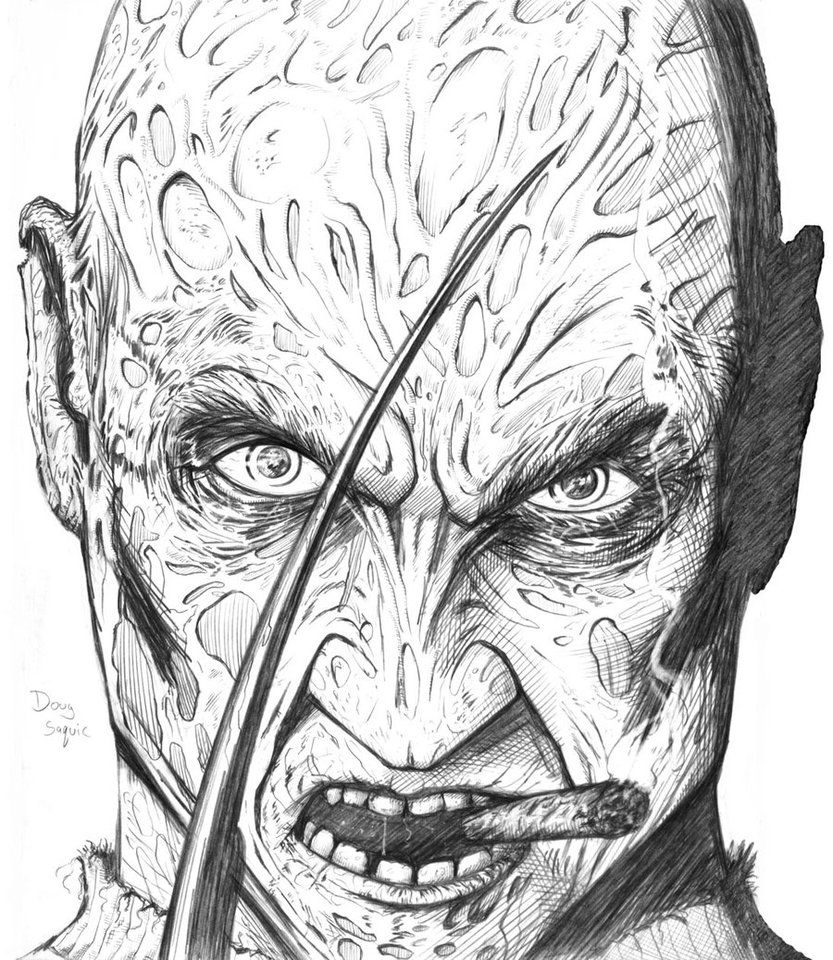 FREDDY KRUEGER | TERROR | Freddy krueger, Pencil drawings ...