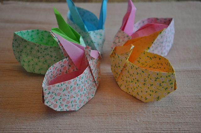 origami bunny pasen osterbasteln origami geschenke. Black Bedroom Furniture Sets. Home Design Ideas