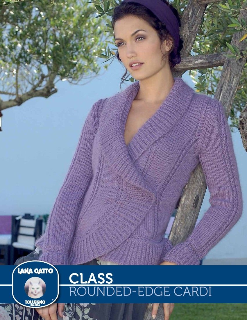 Class – Rounded-edge Cardi | Knitting Fever Yarns & Euro Yarns ...
