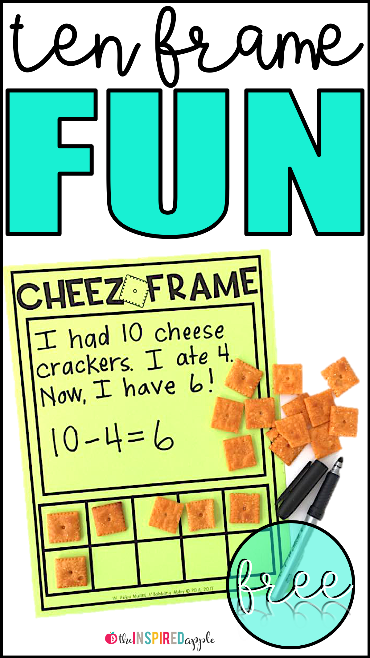Free Ten Frame Activity With Cheez Its