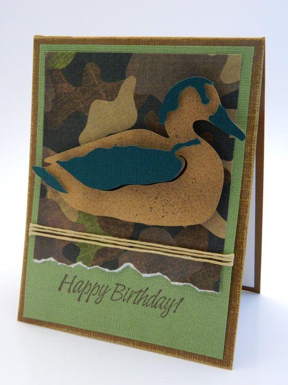 Camouflage Birthday Card Duck Birthday Card Happy Birthday Card
