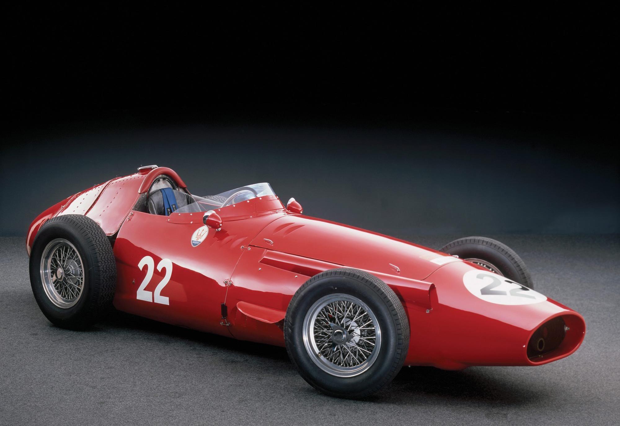 Rennsport Legend Herren T-Shirt Maserati 250f T-Shirt Fangio /& Stirling Moss