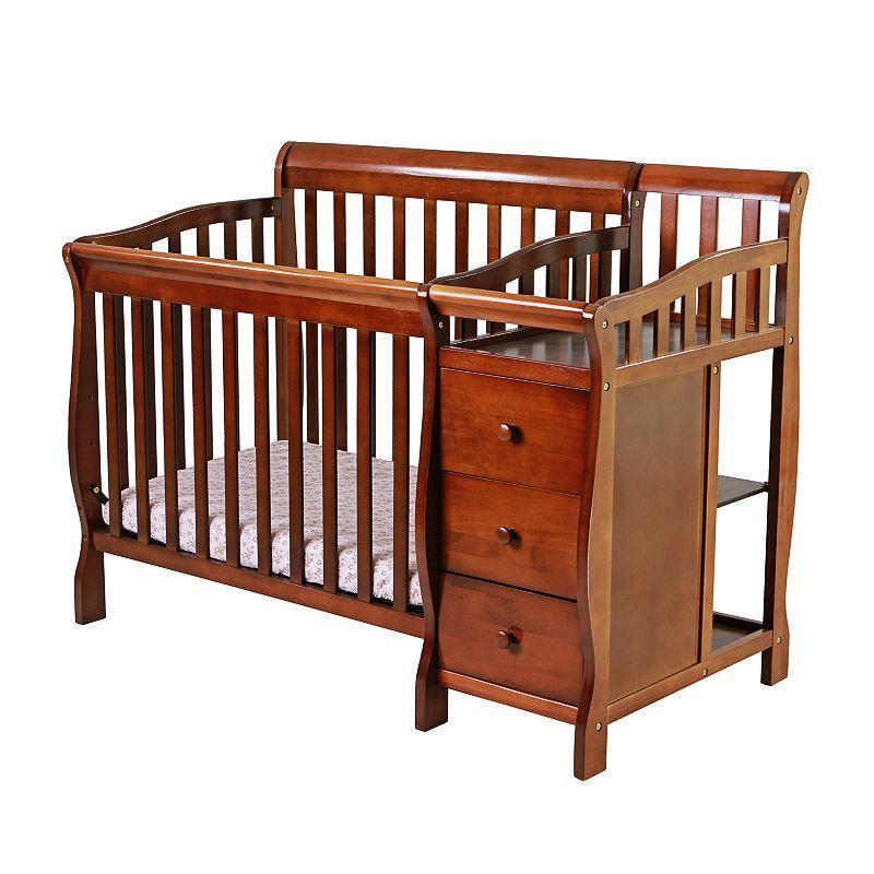 Dream On Me Jayden 4 In 1 Mini Convertible Crib U0026 Changer, White
