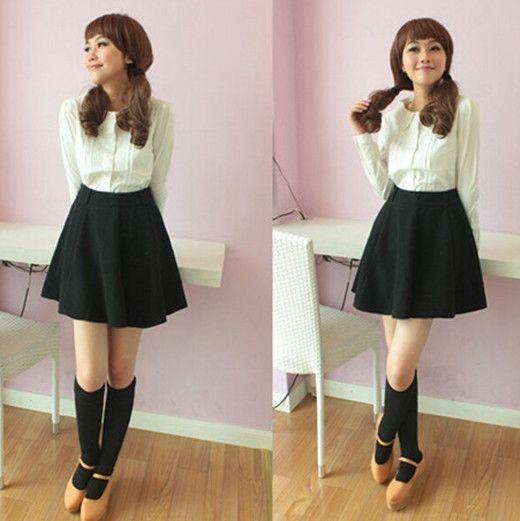 Cute Lolita Women Girls Blouse 3 Layers Peter Pan Collar Long-sleeve Shirt White #Unbranded #Shirt #Casual