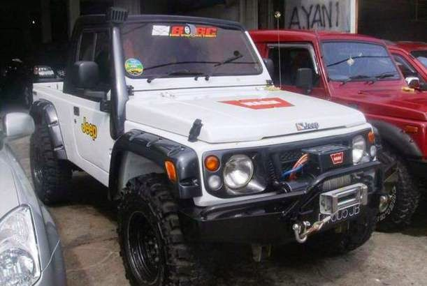 Modif Suzuki Katana Putih Jeep Modifikasi Jeep Mobil