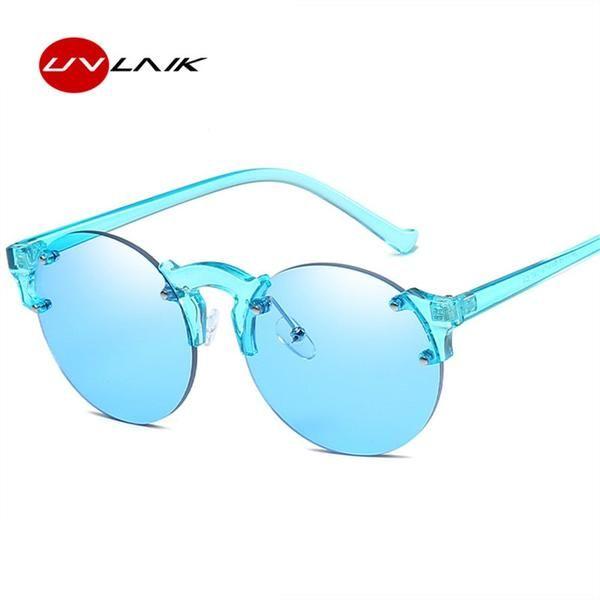 4a18c61aeaa  Fashion  BestPrice UVLAIK Frameless Sunglasses Candy Color Round Women  Circle Rimless 7719  Discounts