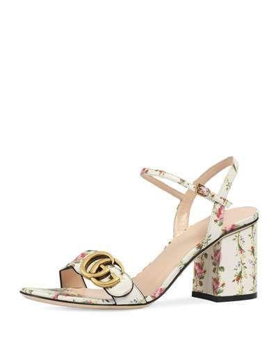 fddd7b6f2f2 S0TG1 Gucci Marmont Rose 75mm Sandal