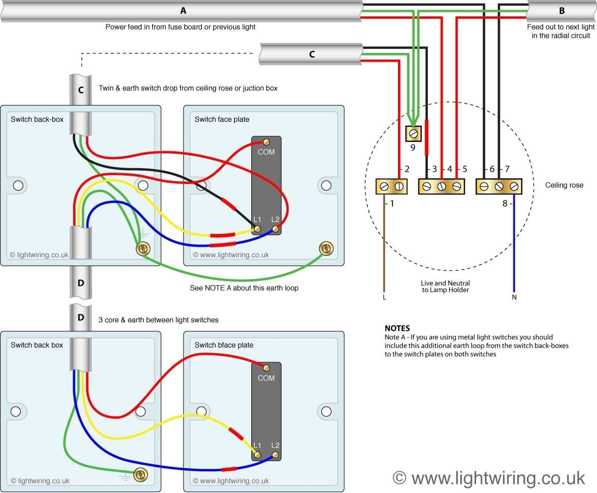 kitchen worktop lights on separate switches circuit http rh pinterest ca 3-Way Switch Light Wiring Diagram Basic Light Wiring Diagrams