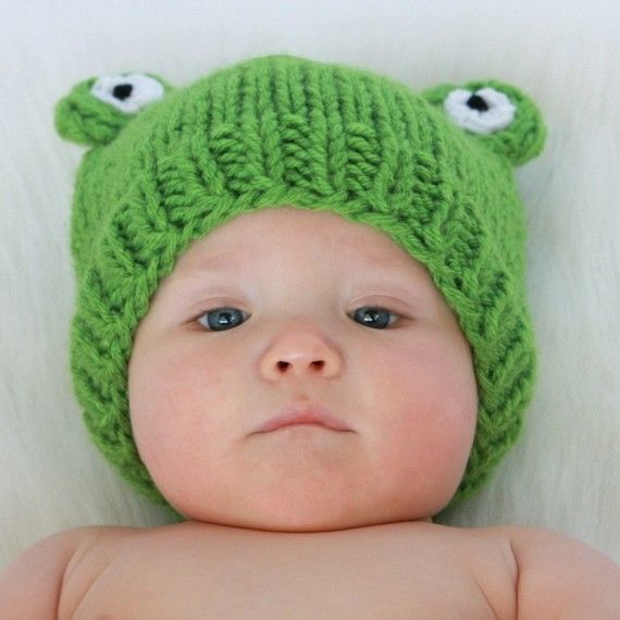 Frog Hat Winter Hat Hats Cute Adorable Silly Frog Knitting