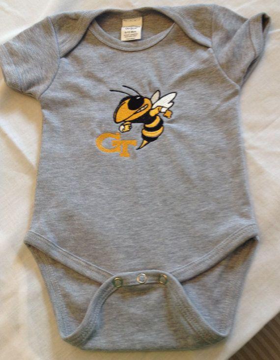 Baby Ga Tech Onesie By Rudycrafts On Etsy 15 00 Onesies Baby Love Baby