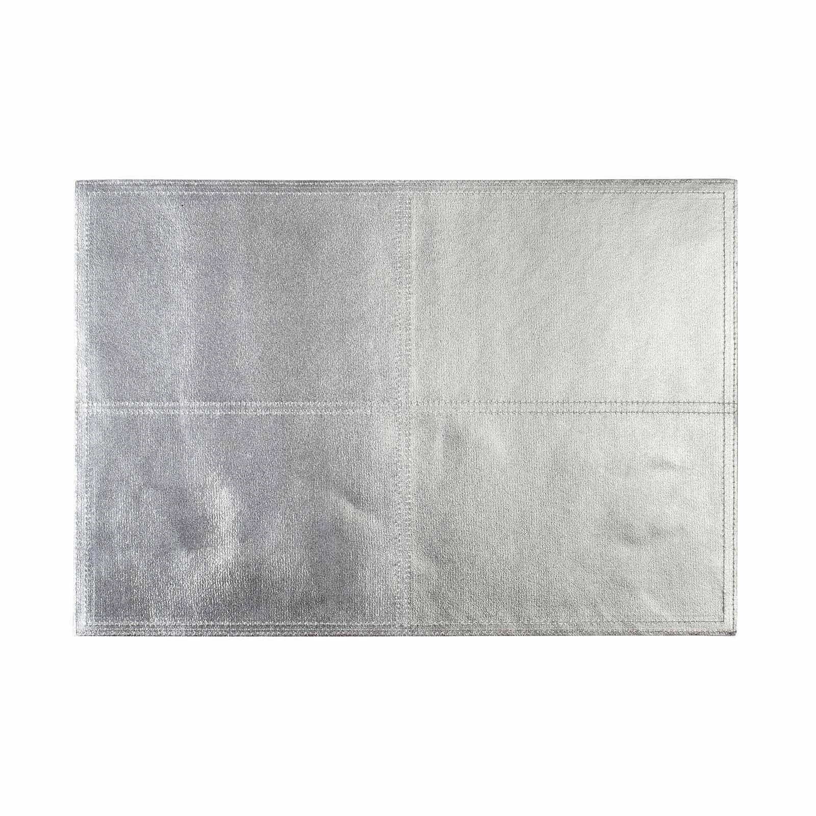 Tischset Lederoptik Silber Ca B 30 X L 43 Cm Tischset Silber Leder