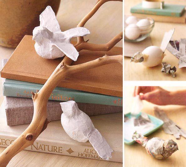 Vögel aus Papier basteln