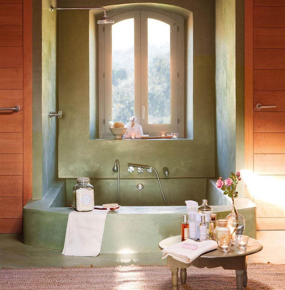 Banera A Ras De Suelo En Microcemento_00382441 Banos Pinterest # Homes Heaven Muebles