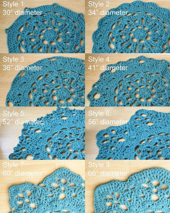 PATRÓN de Crochet DIY tirar de la manta / alfombra por Midknits ...