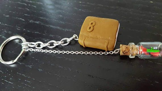 Beauty and the beast keyring