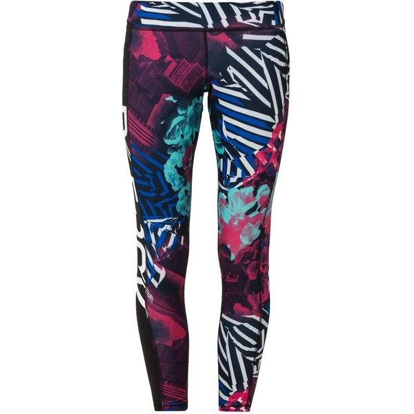 Reebok Tights blazing ($40) ❤ liked on Polyvore featuring activewear, activewear pants, pants, pink, reebok activewear, reebok, women activewear, reebok sportswear and columbia sportswear