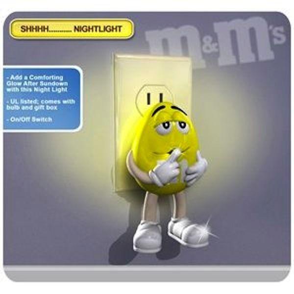 illuminating Yellow M&M Character Night Light - LED