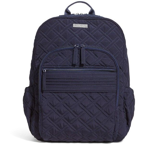 Vera Bradley Campus Backpack in Classic Navy ($138) ❤ liked on Polyvore featuring bags, backpacks, classic navy, sale, cord bags, strap backpack, vera bradley bags, vera bradley backpack and navy blue backpack