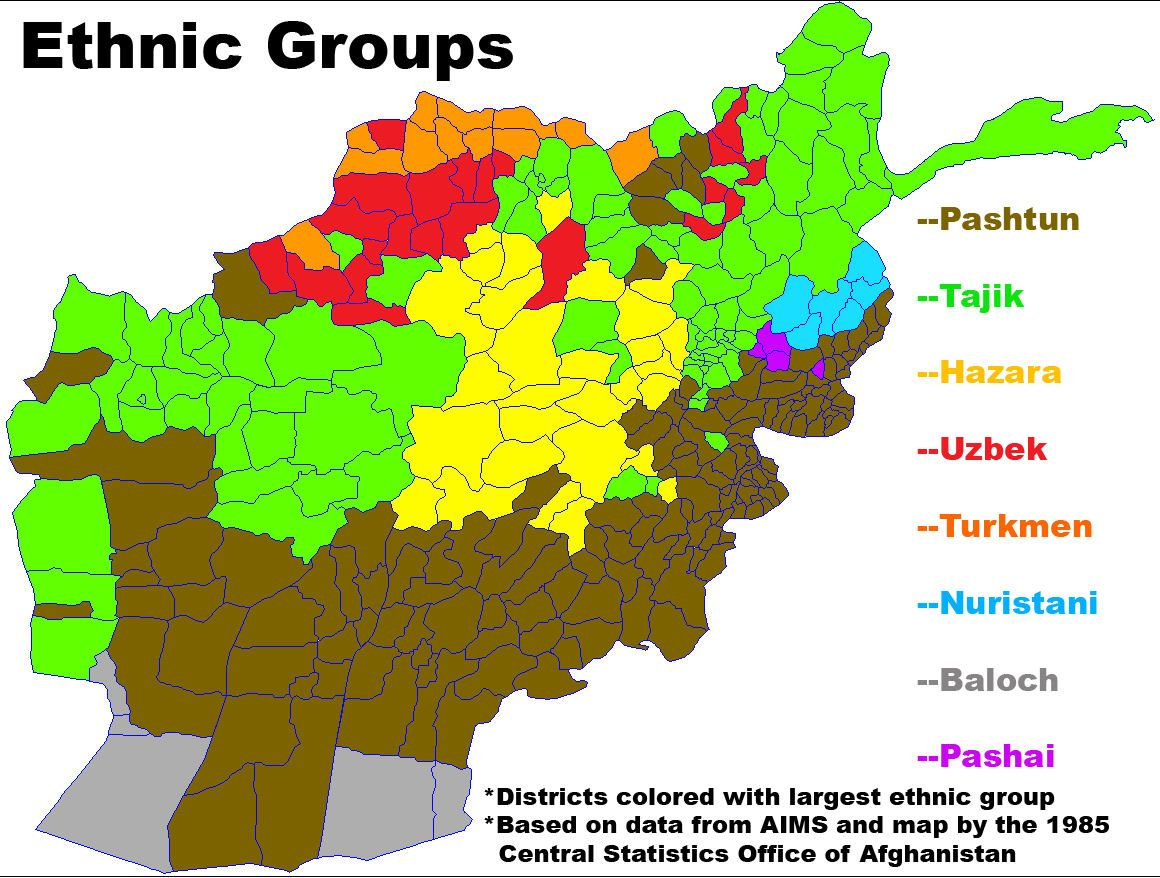 Ethnic Groups In Afghanistan South Asia Pinterest - Us invasion of afghanistan everyday map